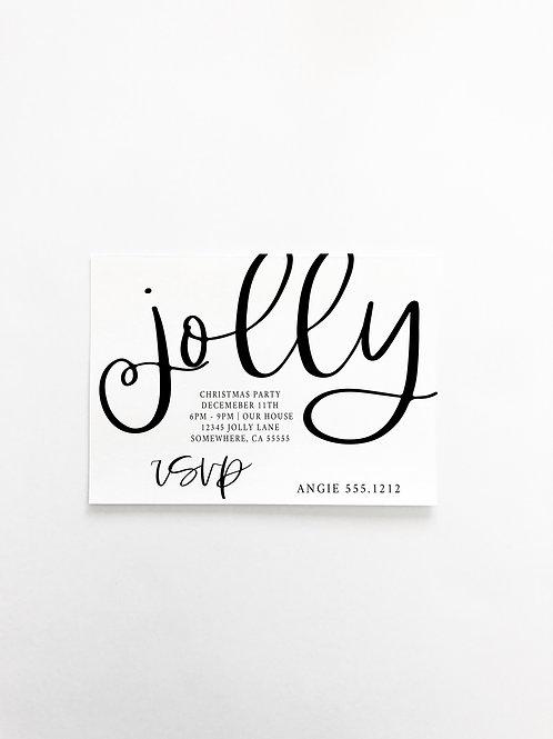 FANCY JOLLY HOLIDAY  INVITE