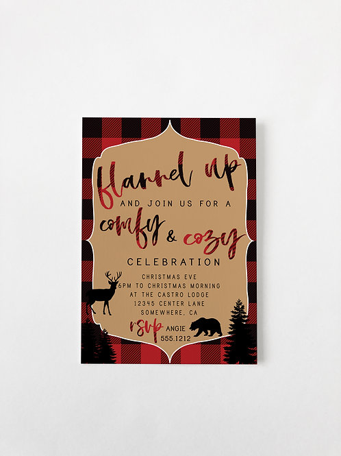 FLANNEL UP HOLIDAY  INVITE