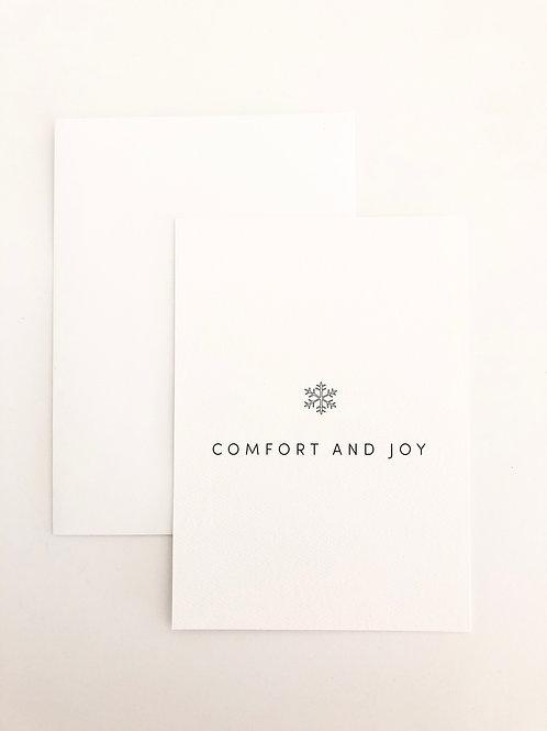 COMFORT AND JOY GREETING CARD