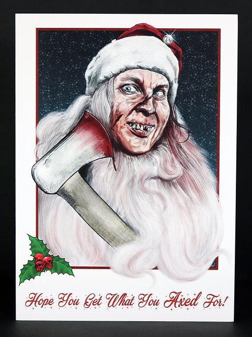 Psycho Santa Christmas Card