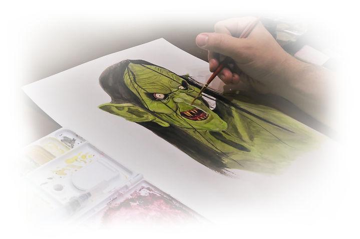 Meg Mucklebones painting