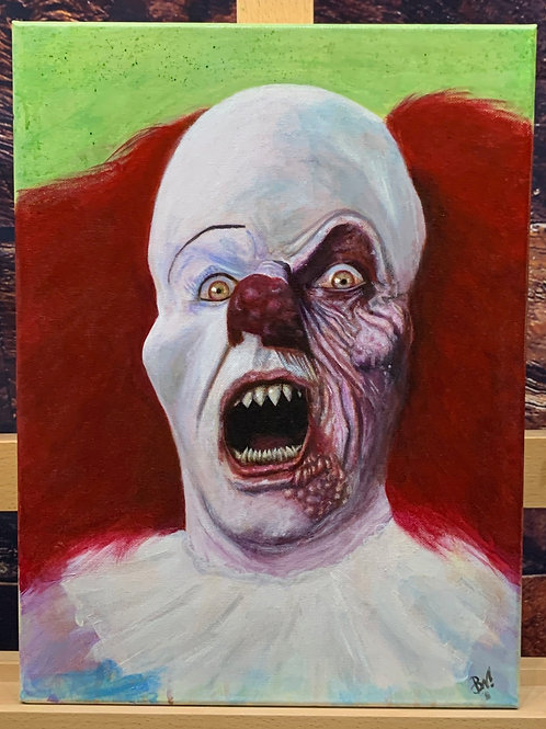 Pennywise- 12X16 Acrylic Painting