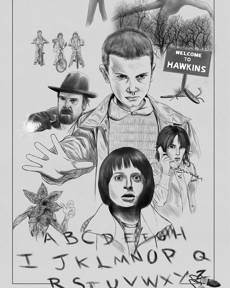 Stranger Things Pencils