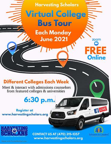 Virtual College Fair Bus Tour - Made wit