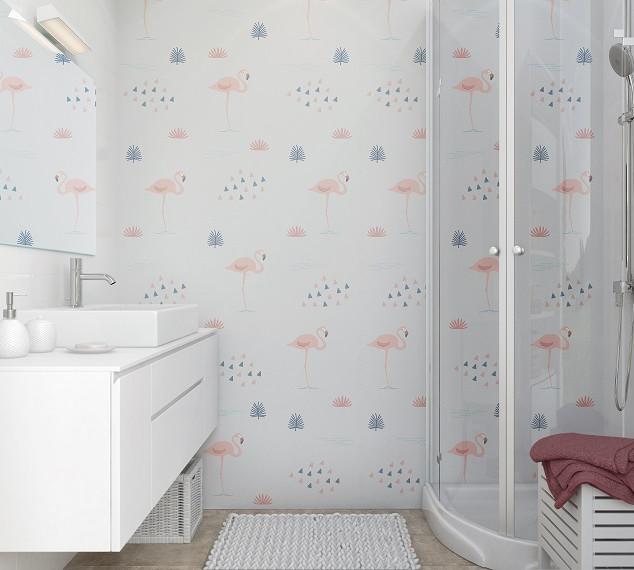 חיפוי קיר welcome-V דגם:Pink Flamingo