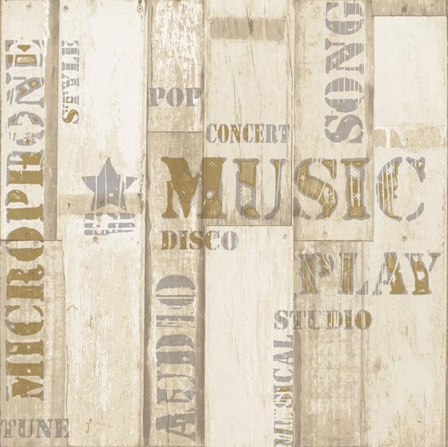 טפט דגם עץ - Music