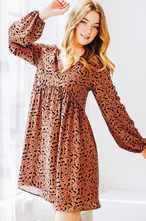 Alyssa Dalmatian Print Dress