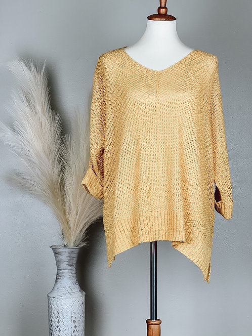 Leslie Sweater Top (Honey)