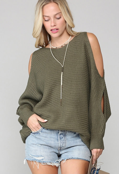 Kim Knit Sweater with Open Sleeves