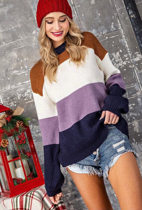 Cassie Color Block Sweater