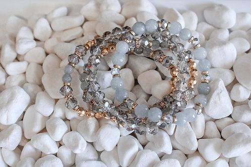 Grey Stacked Bracelet