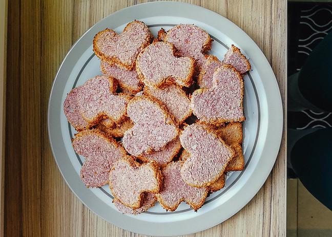 Rosa Himbeer-Zitrone-Kokos-Kekse