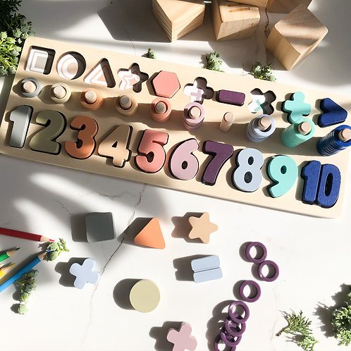 Wooden Number Board for Kids (Educational)