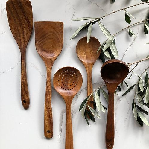 Acacia Wooden Utensil Set (5 pieces)