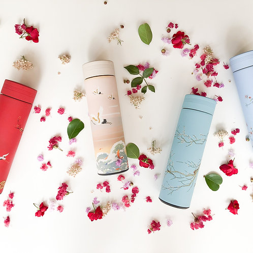Sustainable Double Wall Stainless Steel Water Bottle (Oriental Design)