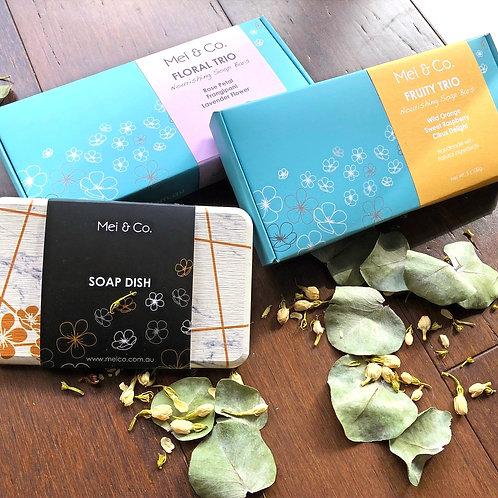 2 Trio Boxes & Eco Soap Dish Gift Bundle