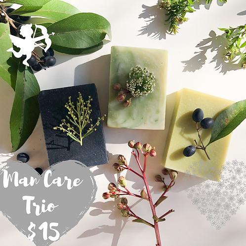 Men Care Trio Soap Gift Box  (Charcoal, Tea Tree & Eucalyptus, Lemon Myrtle)