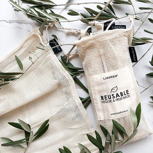 Cotton Produce Bags (Set of 4)