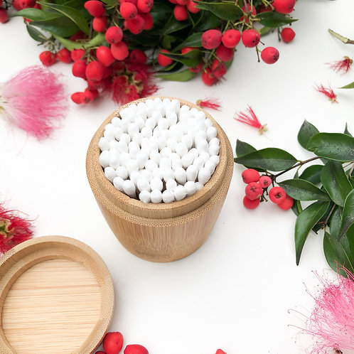 Eco Friendly Bamboo Container for Cotton Buds