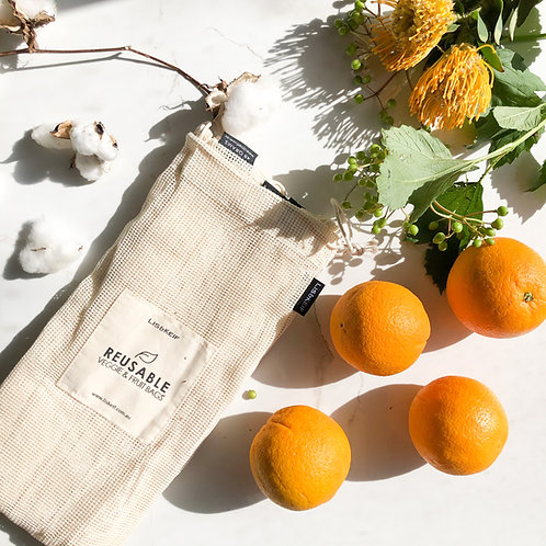 Eco Cotton Produce Bags Large (Set of 4) Fruits and Vegetable