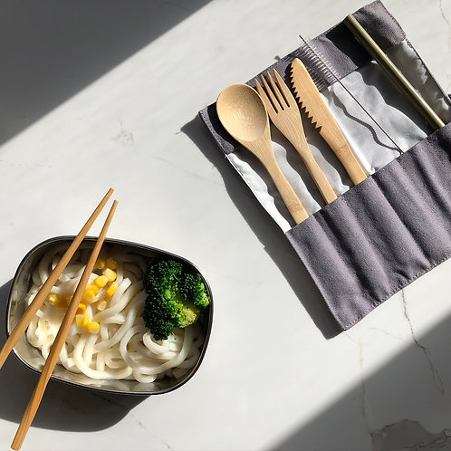 Reusable Travel Bamboo Cutlery Set