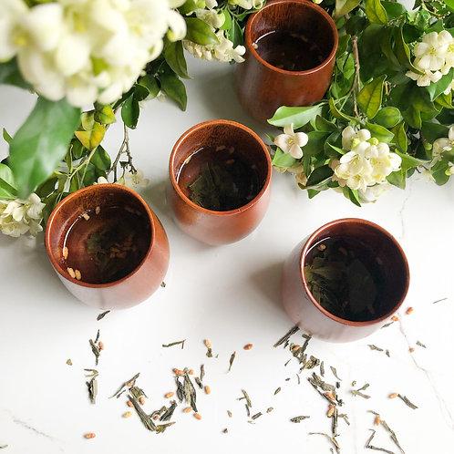 Eco Friendly Jujube Wooden Tea Cups (Set of 4)