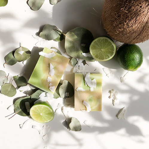 Coconut & Lime Soap with Shredded Coconut