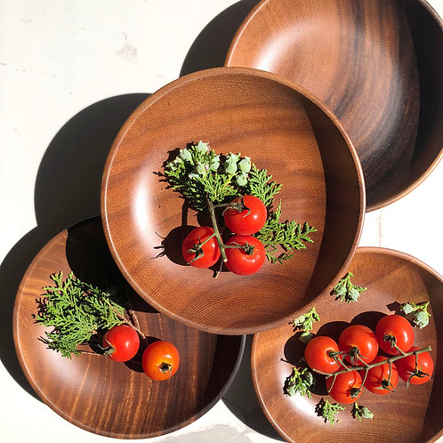 Acacia Wooden Round Plate