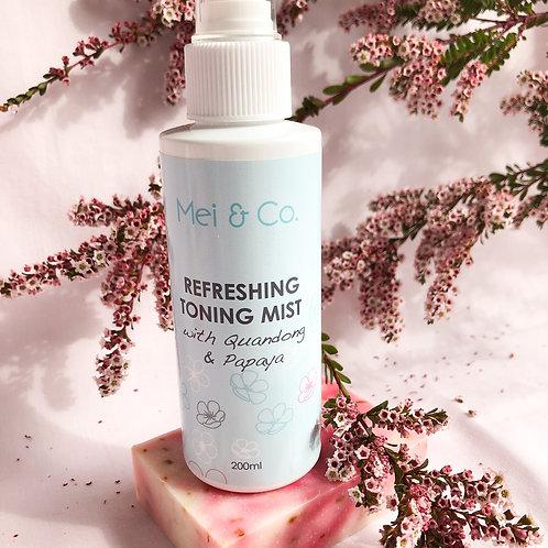 Natural, Vegan Refreshing Face Toning Mist 125ml