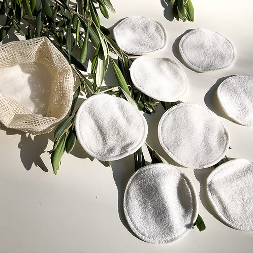 Eco Friendly Bamboo Reusable Face Pads (12 Pads)
