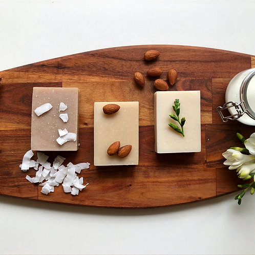 Nutty Trio Soap Gift Box (Coconut, Almond & Aleo Vera, Macadamia & Goats Milk)
