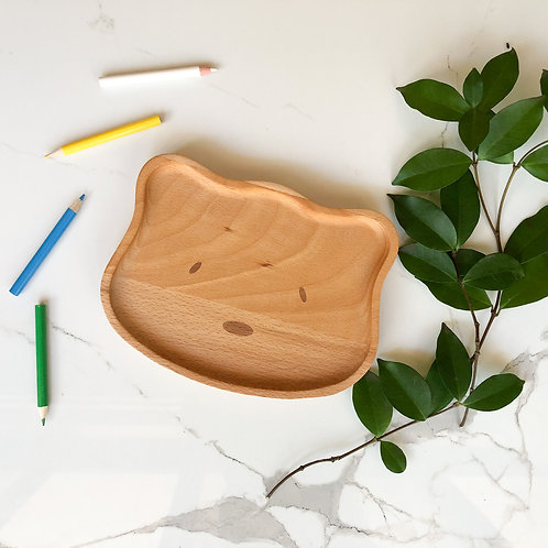Kids Wooden Plate (Bear Shape)