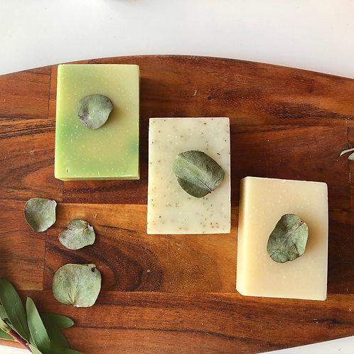 BotanicTrio Soap Gift Box (Lemongrass & Tea Tree, Neem Botanic, Pure Herbal)