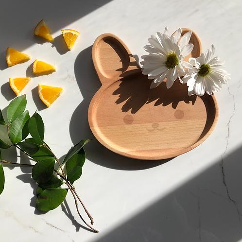 Kids Wooden Plate (Rabbit Shape)