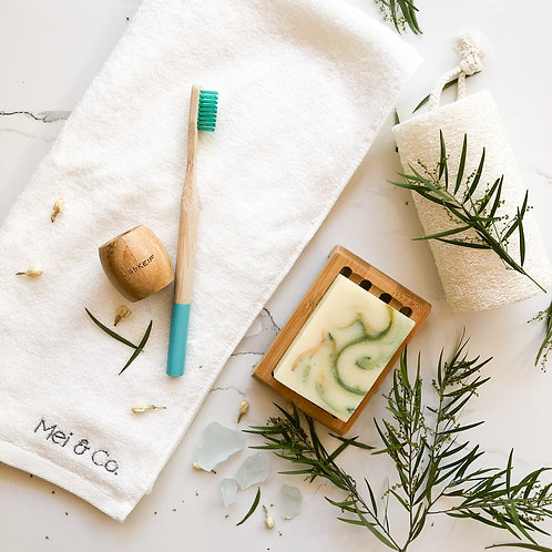 Trial Pack IV: Toothbrush, Lemon Myrtle Bar, Loofah Body Scrub