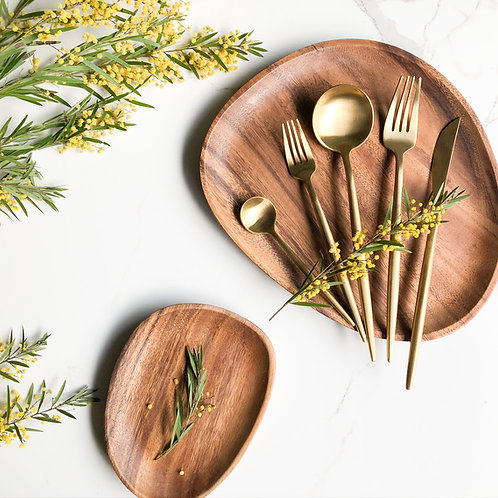 Stainless Steel Cutlery Gift Set (Matte Gold, Copper & Polished Rose Gold))