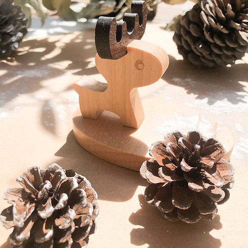 Eco Friendly Wooden Phone or Tablet Holder (Deer)
