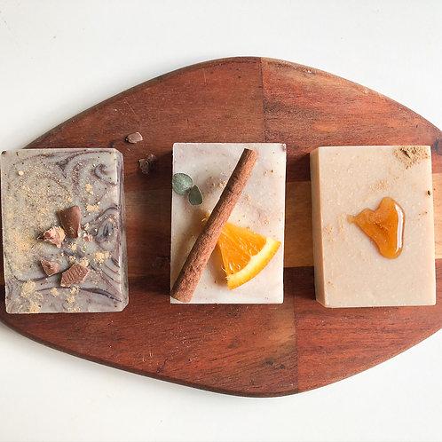 Sweet Indulgence Trio Gift (Cocoa & Mint, Orange Ginger Cinnamon, Milk & Honey)