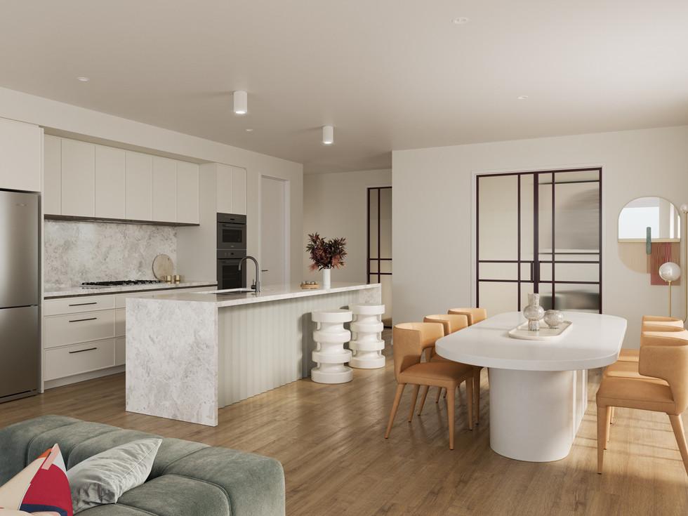 8 Carlton Internal 3D Render - Kitchen W