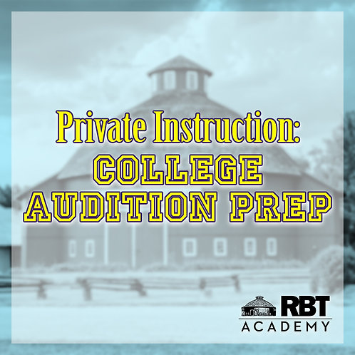 Private College Audition Prep Instruction