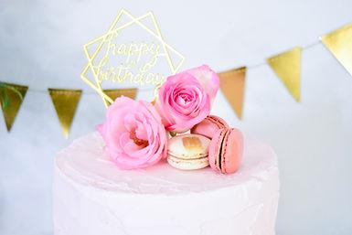 Pink Gold Rose Macaron Birthday Party