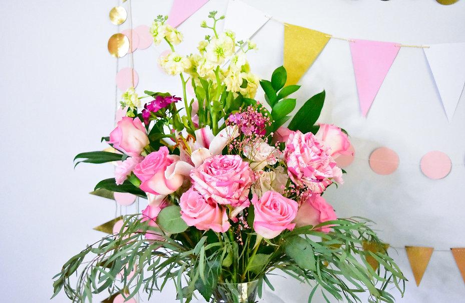 Pink Rose Flower Decor