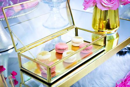 Pink Gold Macarons Birthday