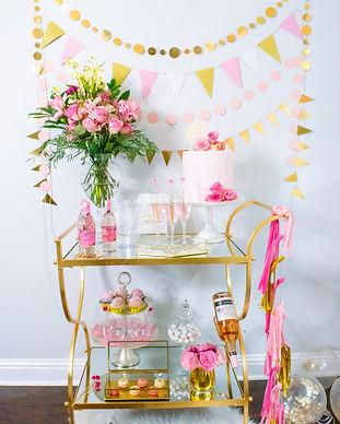 Pink Gold Baby Shower Decor
