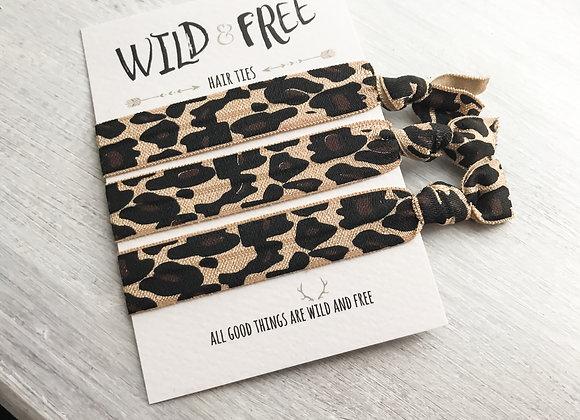 Wild & Free Hair Ties 'Leopard Print'
