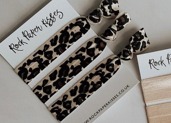 Leopard Hair Ties