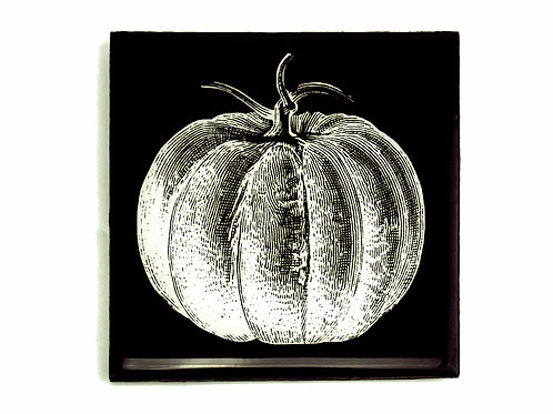 Black & White Pumpkin Coasters