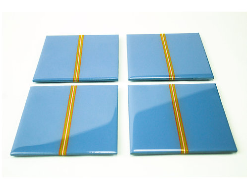 Blue Stripe Coasters