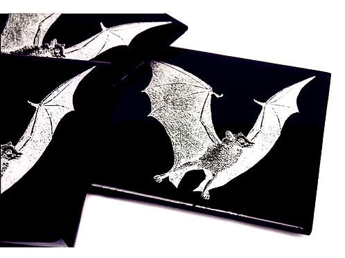 Black and White Bat Coasters