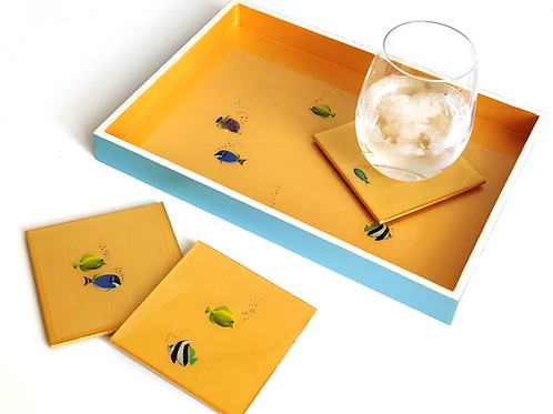 Tropical Gold Fish Decorative Tray